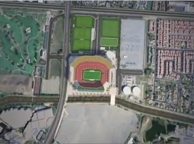 49ers Santa Clara stadium on the site