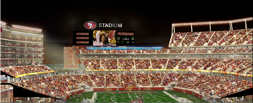 new 49ers Santa Clara Stadium interior looking north